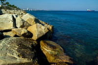View from the seaside of Limassol