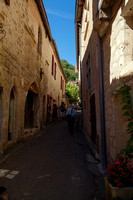 On the streets of Saint-Cirq-Lapopie